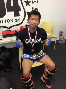 Tin Ho wins his Muay Thai fight on WKA